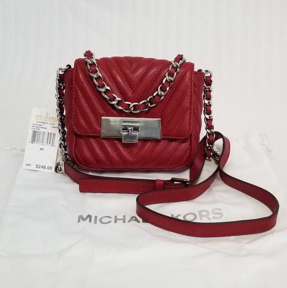 a37984e57c76 MICHAEL KORS SUSANNAH Small Quilted Crossbody Bag